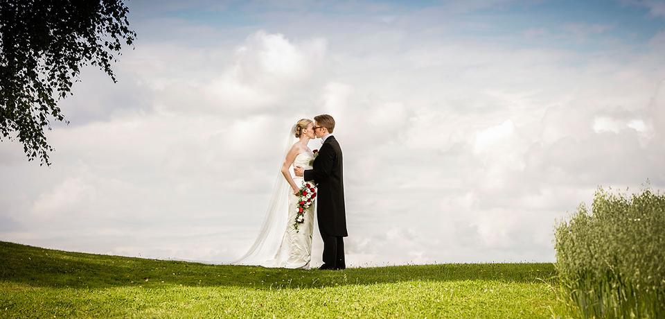 Bryllupsfotografering på Trugstad Gård med Christine & Joakim