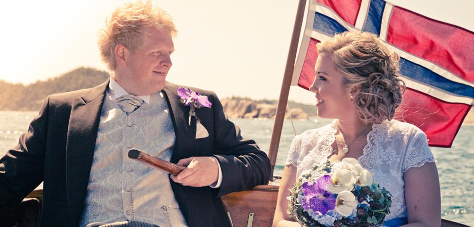 Bryllupsfotografering i Søgne hovedkirke med Ane og Christian